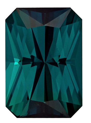 Natural Blue Tourmaline Gemstone, Radiant Cut, 3.04 carats, 10 x 7 mm , AfricaGems Certified - A Hard to Find Gem