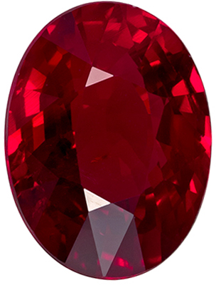 Unheated 3.06 carats Ruby Loose Gemstone in Oval Cut, Rich Red Color in 9.9 x 7.5 mm with GRS Cert