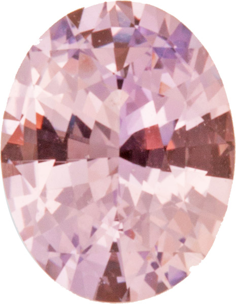 Unheated AGL Certified 1.76 carats Intense Baby Pink Sapphire in Oval Cut, 8.7 x 6.7 mm