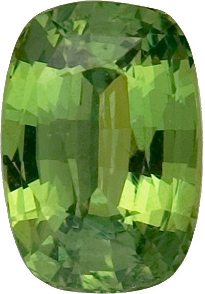 Unheated Bright Grassy Green Cushion Demantoid Garnet, Namibian Origin, 7.8 x 5.7mm, 1.6 carats