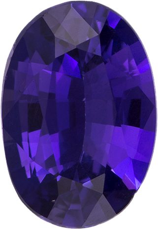 Unheated GIA Sapphire Loose Oval Cut Gem in Rich Violet Purple Color, 7.5 x 5.1 mm, 0.94 Carats - With GIA Certificate - SOLD