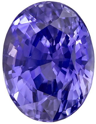 Unheated GIT Certified Violet Purple Sapphire Loose Gem in Oval Cut, 8.5 x 6.5 x 5.39 mm 2.45 carats