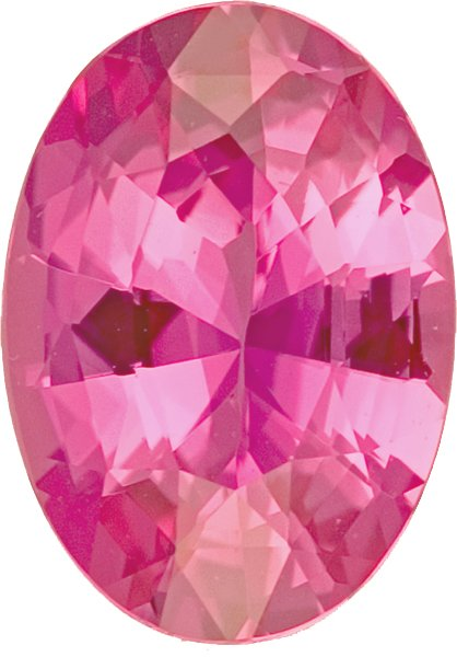 Unheated Hot Pink Sapphire Oval Cut Perfect Gem in Vivid Pink Color in 10.7 x 8.0, 3.18 carats - AGL Certificate