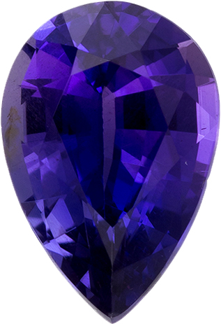 Unheated Sapphire Pear Cut with Vivid Violet Purple Color in 7.4 x 5.0 mm, 0.89 Carats - With GIA Certificate