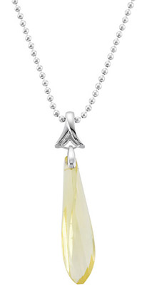 Unique 21.33ct 38x10mm Fancy Twisted Lime Quartz Pendant in Sterling Silver - FREE Chain - SOLD