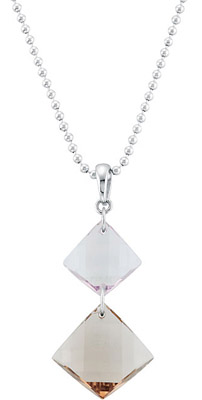 Unique 21.39ct Dangly Rose De France and Smokey Quartz Pendant Set in Sterling Silver - FREE Chain
