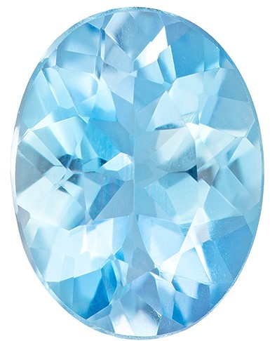 Unique Beauty  Blue Aqua Genuine Gemstone, 0.99 carats, Oval Shape, 8 x 6.1 mm