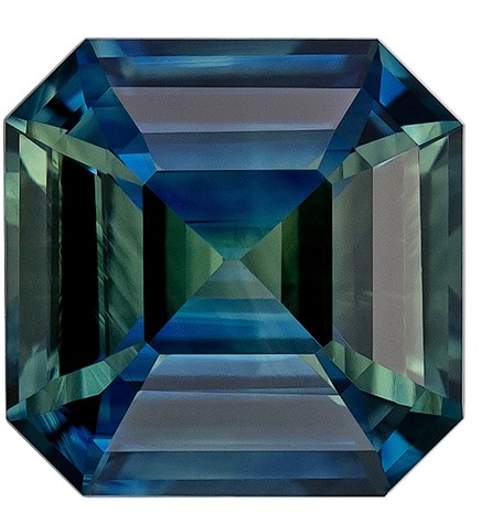 Unique Beauty Asscher Cut Beautiful Blue Green Sapphire Gemstone, 1.7 carats, 6.7 x 6.7 mm , Super Lovely Gem
