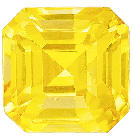 Unique Beauty Octagon Cut Gorgeous Yellow Sapphire Gemstone, 2.03 carats, 6.5 x 6.4 mm , Great Ring Gemstone
