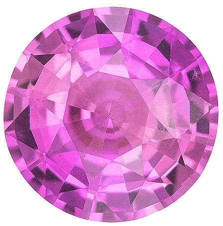 Unique Beauty  Round Cut Beautiful Pink Sapphire Gemstone, 1.72 carats, 7.3 mm , Fine Material