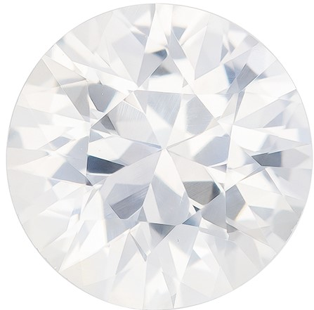 Unique Beauty  Round Cut Faceted White Sapphire Gemstone, 3.08 carats, 9 x 9.15 x 5.53 mm with GIA Certificate, Perfect Ring Stone