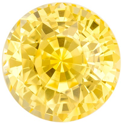 Unique Beauty  Round Cut Gorgeous Yellow Sapphire Gemstone, 2.35 carats, 7.1 mm , Full Brilliance