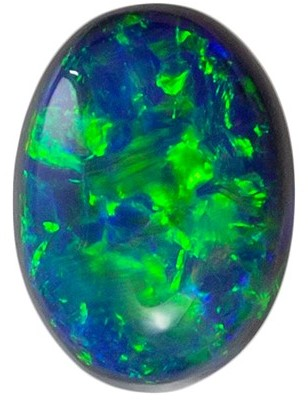 Unique  Black Opal Gemstone, 0.65 carats, Oval Shape, 7.1 x 5.1 mm, A Natural Wonder
