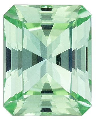 Unique  Blue Green Tourmaline Gemstone, 1.45 carats, Radiant Shape, 7.7 x 6.1 mm, Unique Beauty