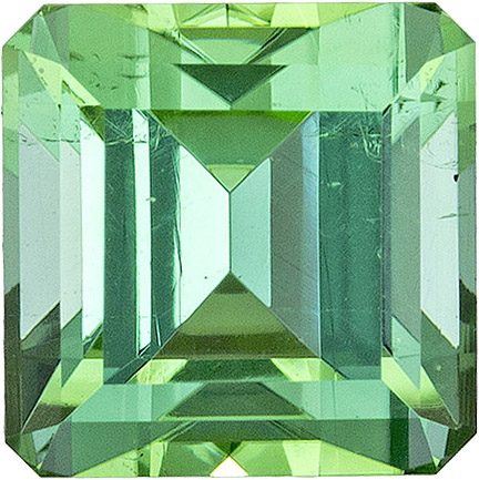 Unique Color in Mint Green Afghanistan Tourmaline, Emerald Cut, 7.1 mm, 2.36 carats