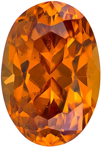 Unique Garnet in Spessartite Loose Gem in Oval Cut, Medium Rich Orange, 8.4 x 5.7 mm, 1.96 carats
