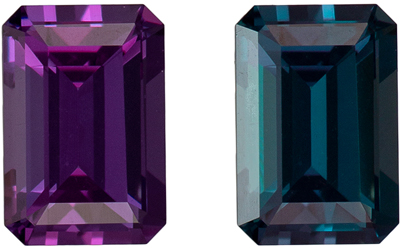 Unique Gem 0.47 carats Natural Fine Alexandrite Gemstone in Emerald Cut, Medium Teal to Vivid Eggplant, 5 x 3.4 mm