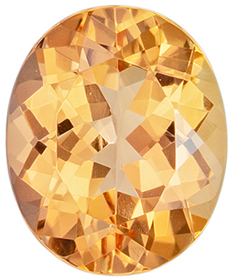 Unique Gem 1.81 carats Topaz Loose Genuine Gemstone in Oval Cut, Peachy Golden, 8.4 x 6.9 mm