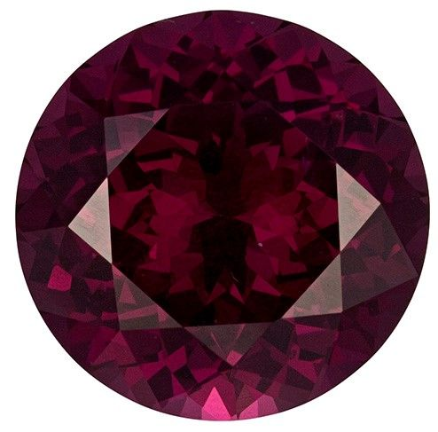 Unique Gem 6.52 carats Rhodolite Loose Gemstone in Round Cut, Open Raspberry, 11.5 mm