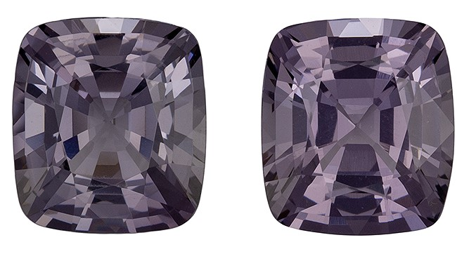 Unique  Gray Spinel Gemstone, 4.06 carats, Cushion Shape, 7.9 x 7 mm, Low Price
