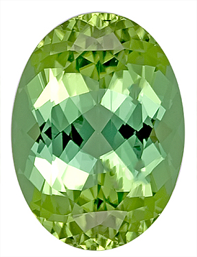 Unique Green Tourmaline Genuine Gemstone for SALE - Fabulous Bargain,  Oval Cut, 13.5 x 9.8 mm, 5.58 carats