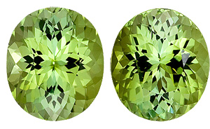 Unique! Light Green with a Touch of Lemon Tourmaline Genuine Gems from Brazil, Oval Cut, 6.22 carats