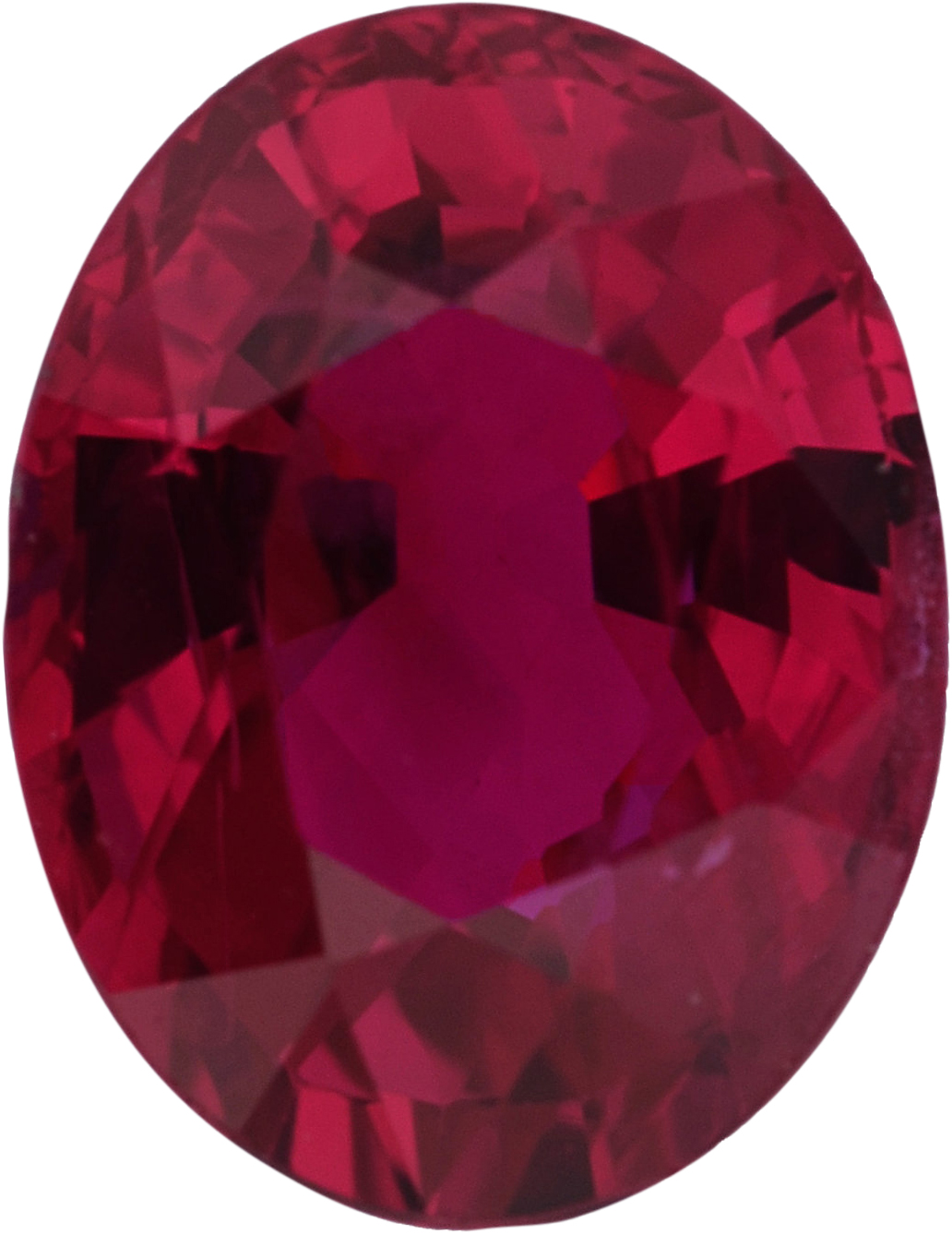 Unique Loose Ruby Gem in Oval Cut, Deep  Red Color, 6.67 x 5.15 mm, 1.12 carats