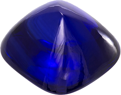 Unique Sugarloaf Sapphire Genuine Ceylon Gem in Cabochon Cut, 10.2 x 9.5 mm, 6.13 Carats