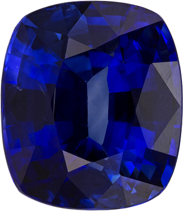 Unreal  Blue Sapphire Loose Ceylon Gem in Cushion Cut, 8.8 x 7.6 mm, 3.02 Carats