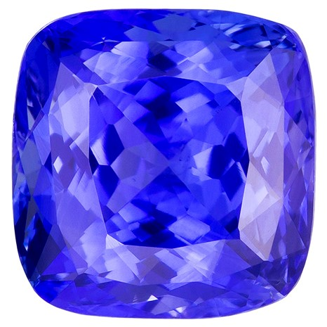 Unset Blue Sapphire Gemstone, Cushion Cut, 4.68 carats, 8.87 x 8.73 x 6.32 mm , GIA Certified - A Low Price