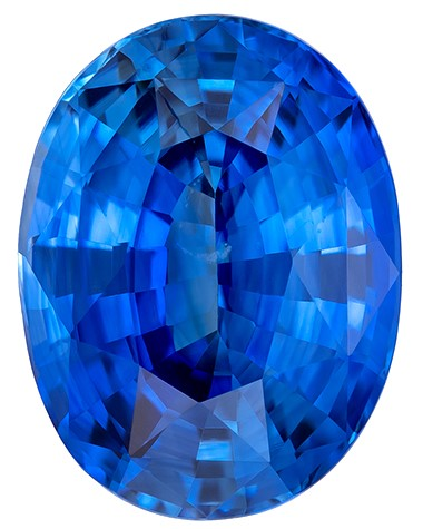 Perfect Blue Sapphire Gemstone, Oval Cut, 5.59 carats, 12.03 x 9.12 x 6 mm , GIA Certified - A Great Buy