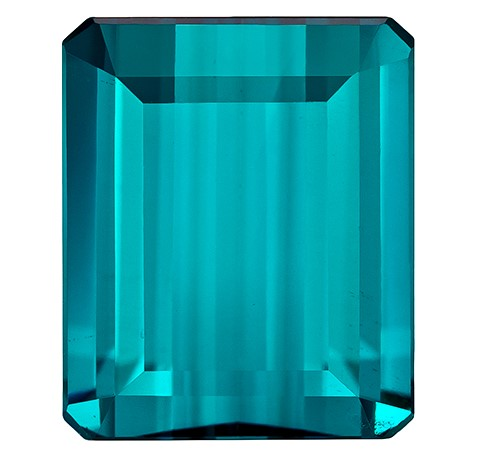 Unset Blue Tourmaline Gemstone, Emerald Cut, 5.67 carats, 11.4 x 9.4 mm , AfricaGems Certified - A Fine Gem