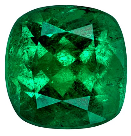Very Special Emerald Gemstone, Cushion Cut, 2.27 carats, 8.3 x 7.99 x 5.62 mm , CDTEC Certified