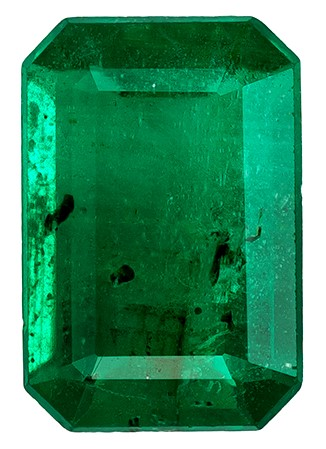 Unset Vibrant Emerald Gemstone, Emerald Cut, 0.49 carats, 6.1 x 4.1 mm , AfricaGems Certified - A Hard to Find Gem