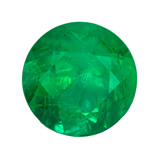Unset Vibrant Emerald Gemstone, Round Cut, 0.43 carats, 4.9 mm , AfricaGems Certified - A Unique Beauty