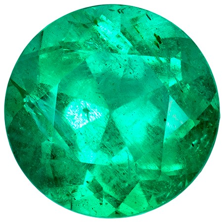 Unset Vibrant Emerald Gemstone, Round Cut, 0.74 carats, 6 mm , AfricaGems Certified - A Deal