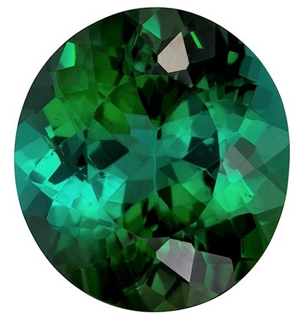 Unset Green Tourmaline Gemstone, Oval Cut, 5.18 carats, 11.7 x 10.6 mm , AfricaGems Certified - A Fine Gem