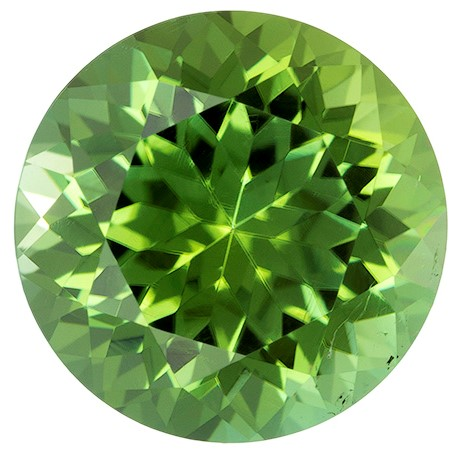 Unset Green Tourmaline Gemstone, Round Cut, 2.24 carats, 8.1 mm , AfricaGems Certified - A Super Fine Gem, Great Deal