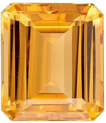 Unset Precious Topaz Gemstone, Emerald Cut, 13.35 carats, 14 x 12.1 mm , AfricaGems Certified - A Low Price