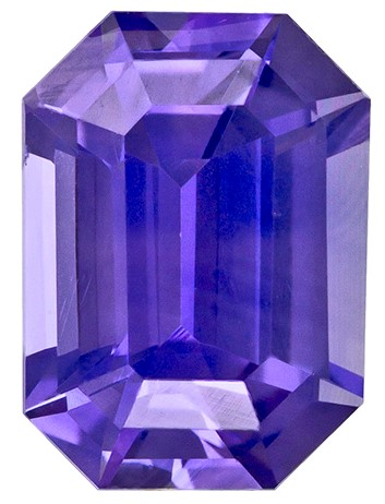 Unset Purple Sapphire Gemstone, Emerald Cut, 1.02 carats, 6.66 x 4.83 x 3.44 mm , GIA Certified - A Deal