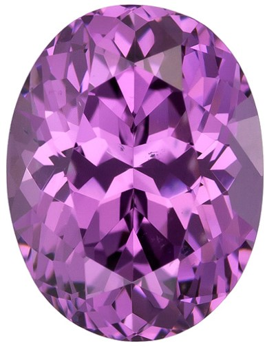 Unset Purple Spinel Gemstone, Oval Cut, 2.58 carats, 9.4 x 7.1 mm , AfricaGems Certified - A Great Buy