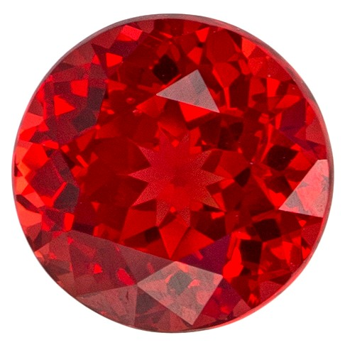 Unset Red Spinel Gemstone, Round Cut, 0.57 carats, 4.7 mm , AfricaGems Certified - A Great Buy