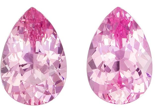 Faceted Pink Spinel Gemstones, Pear Cut, 1.91 carats, 7.5 x 5.1 mm Matching Pair, AfricaGems Certified - A Great Buy