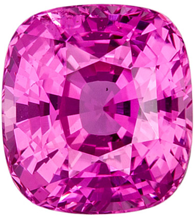 Untreated 2.15 carats - GIA Certified Pink Sapphire Loose Gem, Rich Pink Color in Cushion Cut, 7.2 x 6.6 mm - SOLD