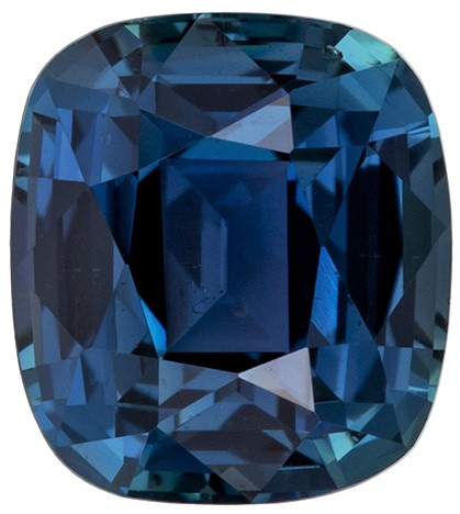 Super Fine Gem, Great Deal  Blue Green Sapphire Genuine Gemstone, 1.43 carats, Cushion Shape, 6.51 x 5.84 x 4.17 mm  with GIA Certificate