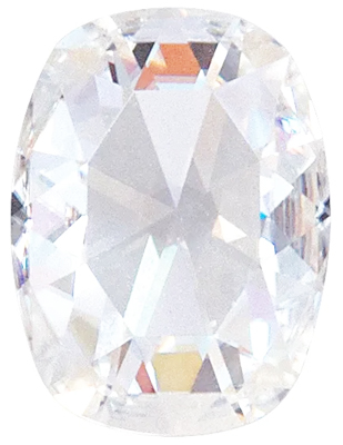Value Grade Moissanite DEF Color Antique Cushion, Rose Cut