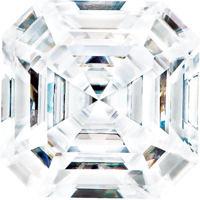 Value Grade Moissanite DEF Color Asscher