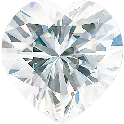 Value Grade Moissanite DEF Color Heart