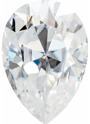 Value Grade Moissanite DEF Color Pear