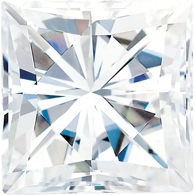 Value Grade Moissanite DEF Color Square Brilliant